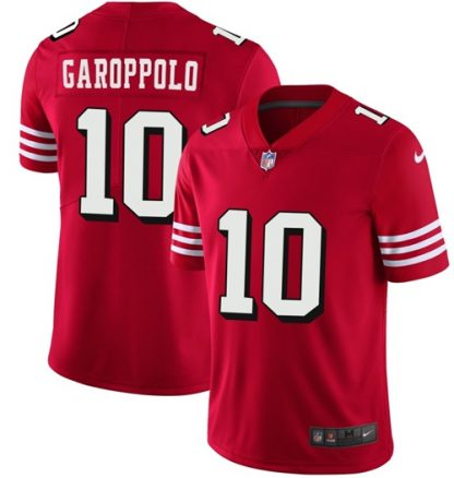 cheap jerseys shipped from usa 49ers #10 Jimmy Garoppolo Red Team ...